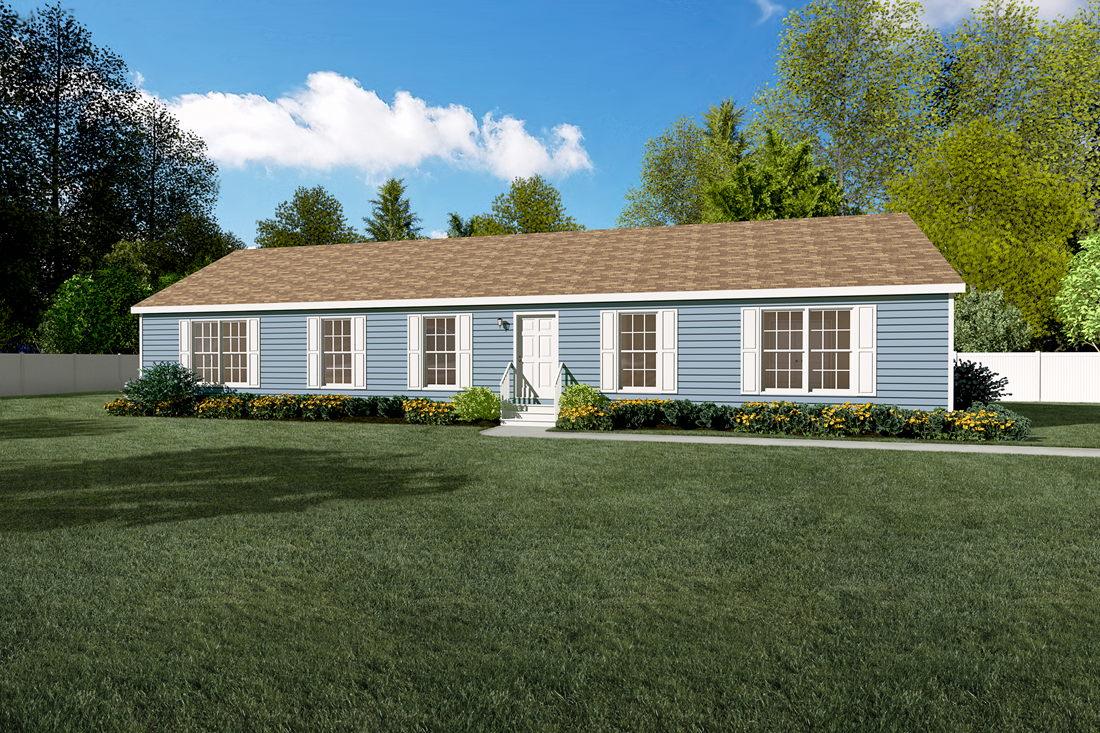 The 1347 CLASSIC Exterior. This Manufactured Mobile Home features 3 bedrooms and 2 baths.